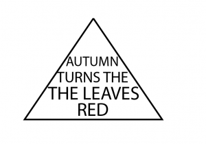 Autumn turns the the leaves red